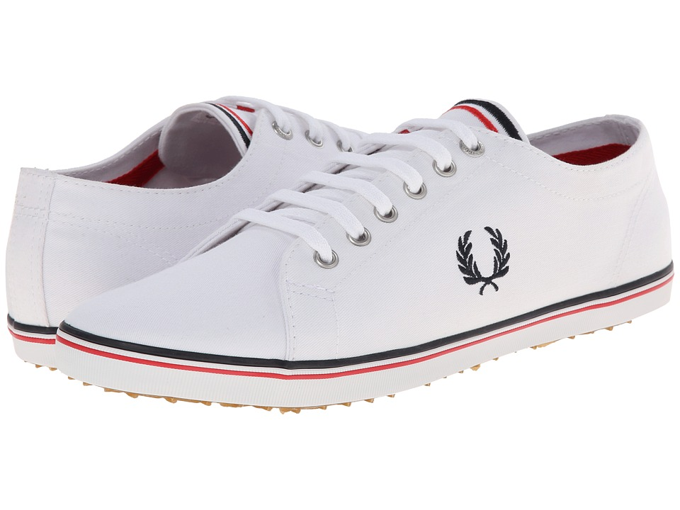 Fred Perry - Kingston Twill (White/Navy/England Red) Men