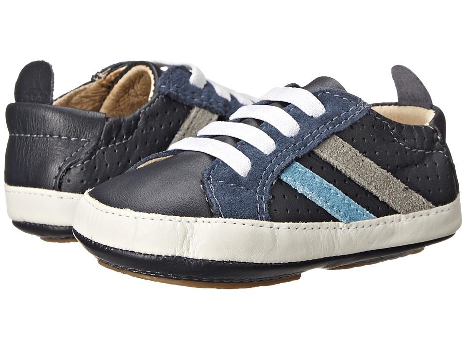Old Soles Park Shoe Infant/Toddler Navy/Grey Suede/Sky Suede Boys Shoes