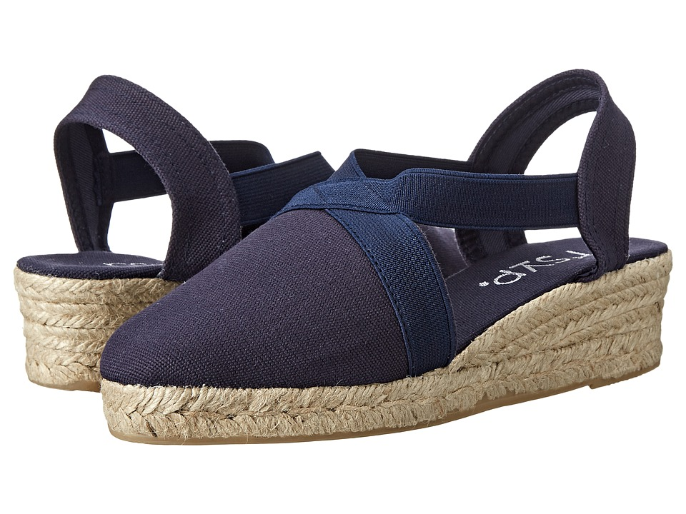 Image of rsvp Jeanie (Navy Lona) Women's Wedge Shoes