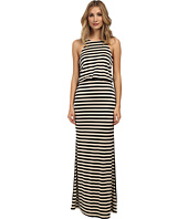 ABS Allen Schwartz - Halter Maxi Dress w/ Solid Back