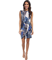 ABS Allen Schwartz - Digital Print Scuba Dress w/ Asymmetric Hem