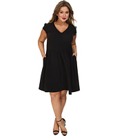 ABS Allen Schwartz - Plus Size Cinched Waist Dress