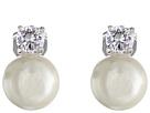 LAUREN Ralph Lauren Pearl w/ Cubic Zirconia Clip Earrings
