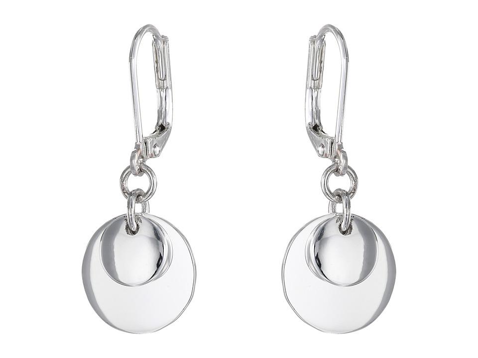 LAUREN Ralph Lauren - Double Disk Drop Earrings (Silver) Earring