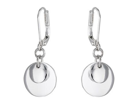 LAUREN Ralph Lauren Double Disk Drop Earrings - Silver