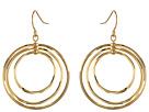 LAUREN Ralph Lauren Small Round Bevel Ring Gypsy Hoop Earrings