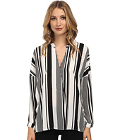 Christin Michaels - Striped Print Tunic