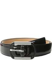 Calvin Klein - 30mm Stitched Feather Edge Patent Strap