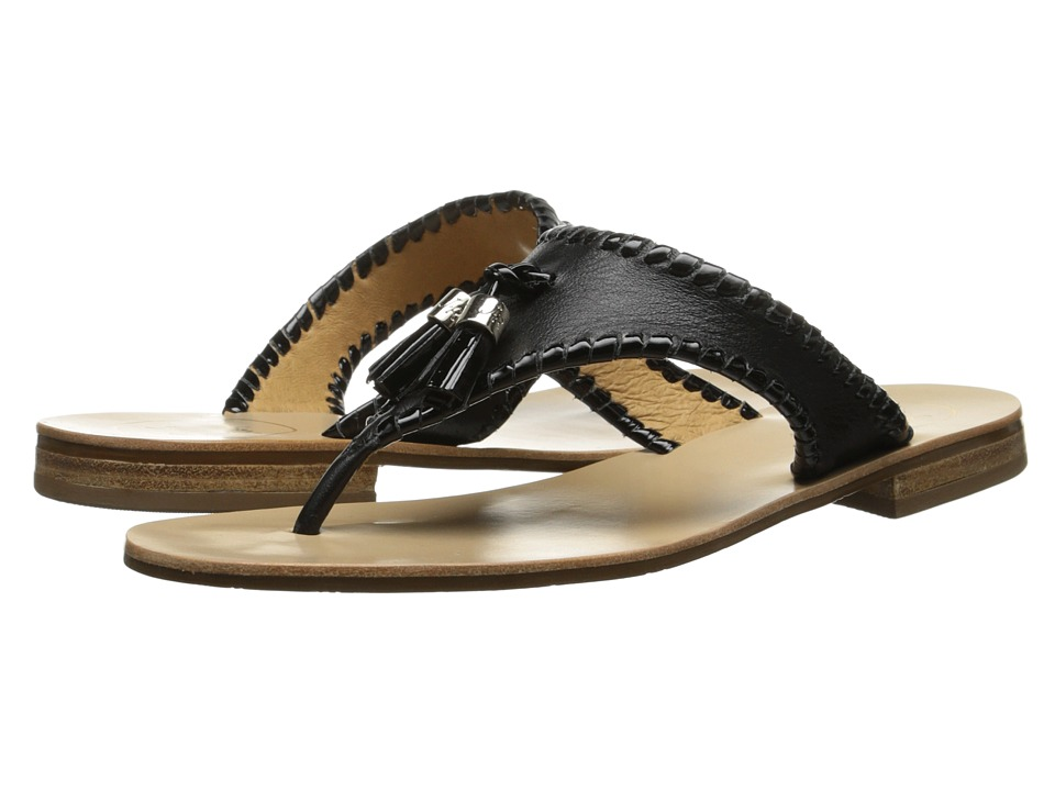 Jack Rogers Alana Black/Black Patent Womens Sandals