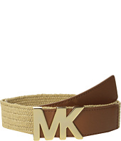 MICHAEL Michael Kors - 38mm Stretch Straw Panel w/ Saffiano Tabs and Logo