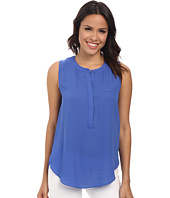 NYDJ - Sleeveless Georgette Blouse w/ Pleated Back