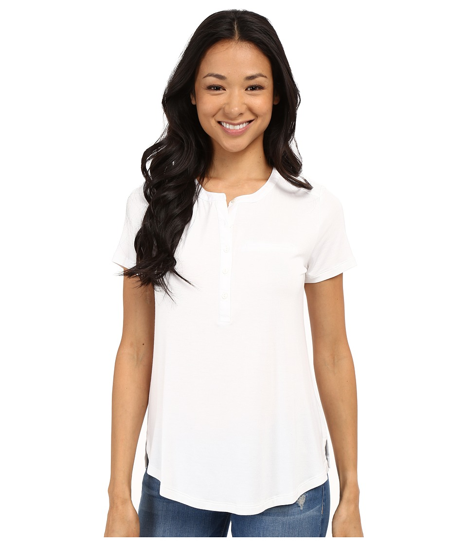 NYDJ - Pleat Back Knit Top (Optic White) Women
