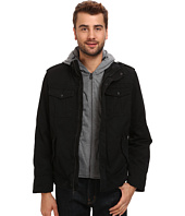 Levi's® - Washed Cotton Four-Pocket Shortie with Zip Out Fleece Hood