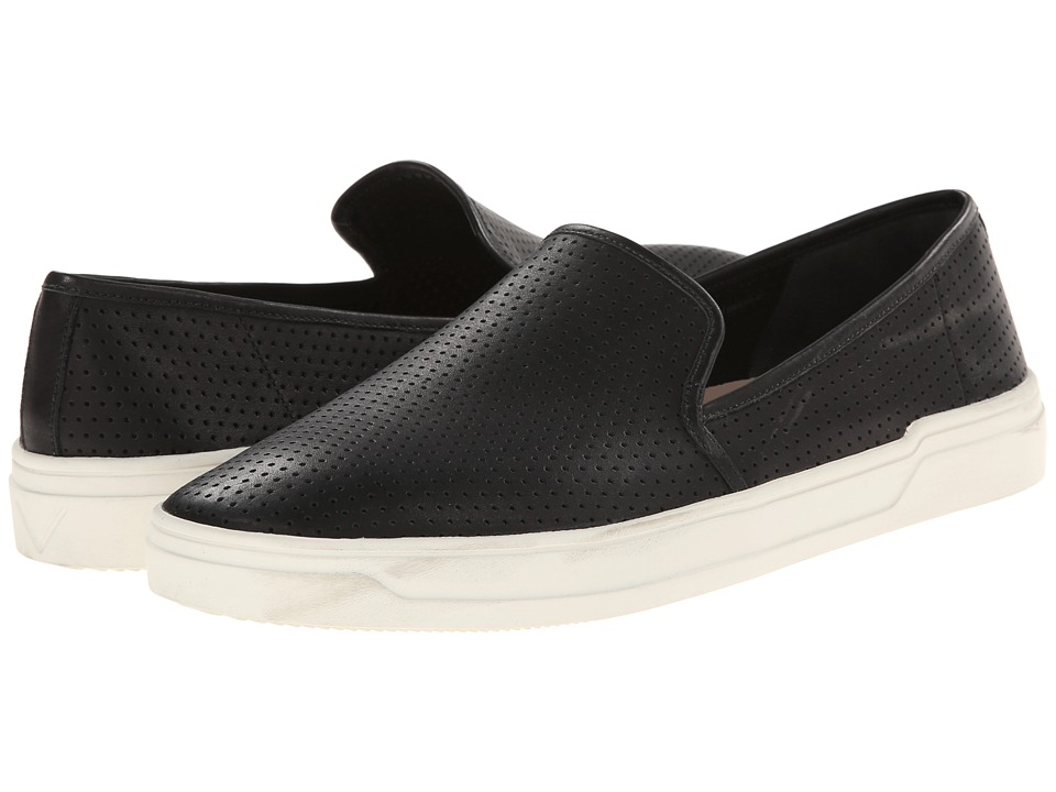 Via Spiga - Galea 5 (Black Modena Calf Perf) Womens Slip on  Shoes