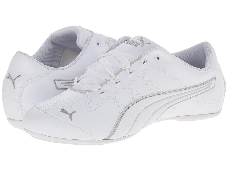 PUMA Soleil v2 Comfort Fun (White/Puma Silver) Women