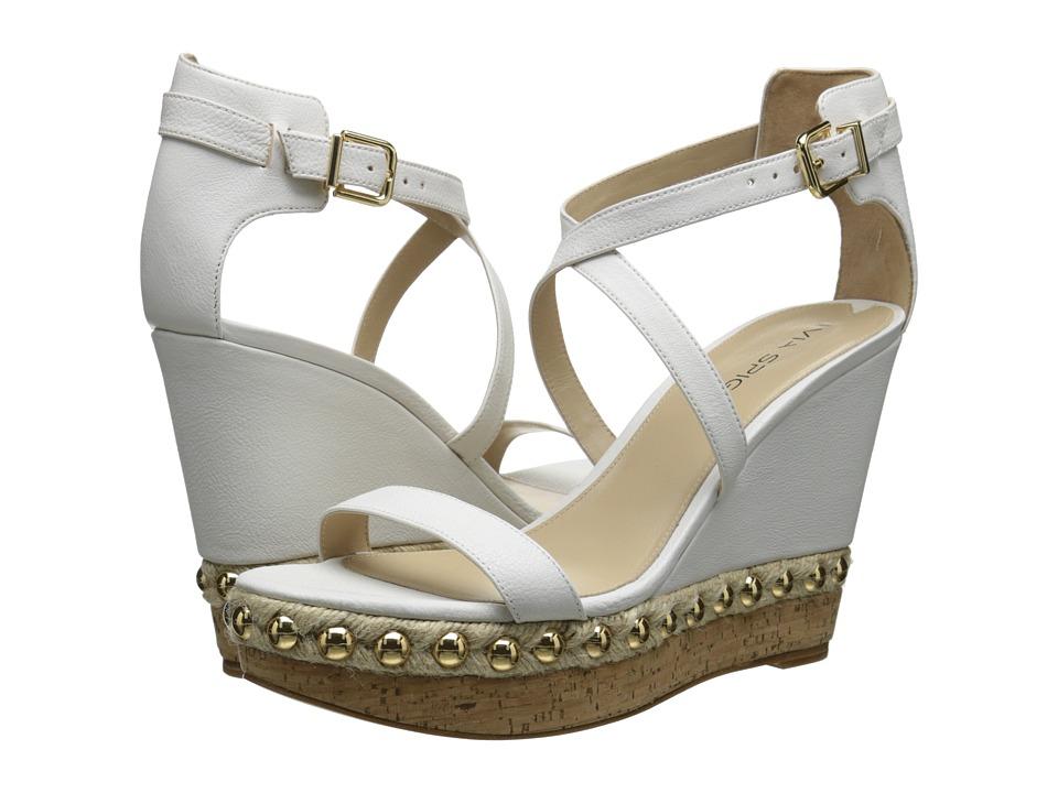 Via Spiga - Moss (White Safari Calf) Women's Wedge Shoes