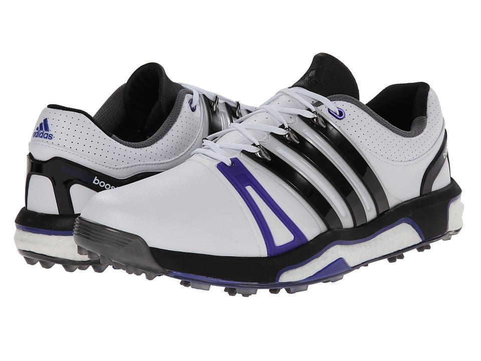 adidas Golf Asym Energy Boost RH Running White/Core Black/Night Flash Mens Golf Shoes