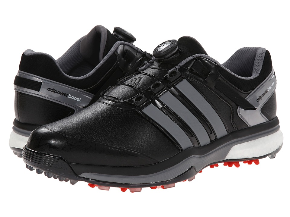 Image of adidas Golf - adiPower Boost Boa (Core Black/Iron Metallic/Core Black) Men's Golf Shoes