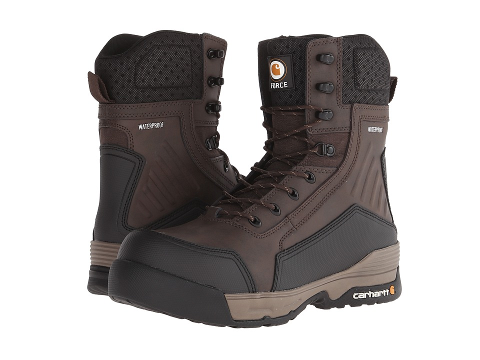 Carhartt - 8 Composite Toe Waterproof Work Boot (Dark Brown) Men