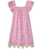 Hatley Kids - Fuchsia Mosaic Flutter Sleeve Dress (Toddler/Little Kids/Big Kids)
