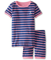 Hatley Kids - Pink & Blue Stripes Short PJ Set (Toddler/Little Kids/Big Kids)