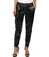CJ by Cookie Johnson - Prominent Ankle Trouser w/ Sequin Fabric in Black/Bronze