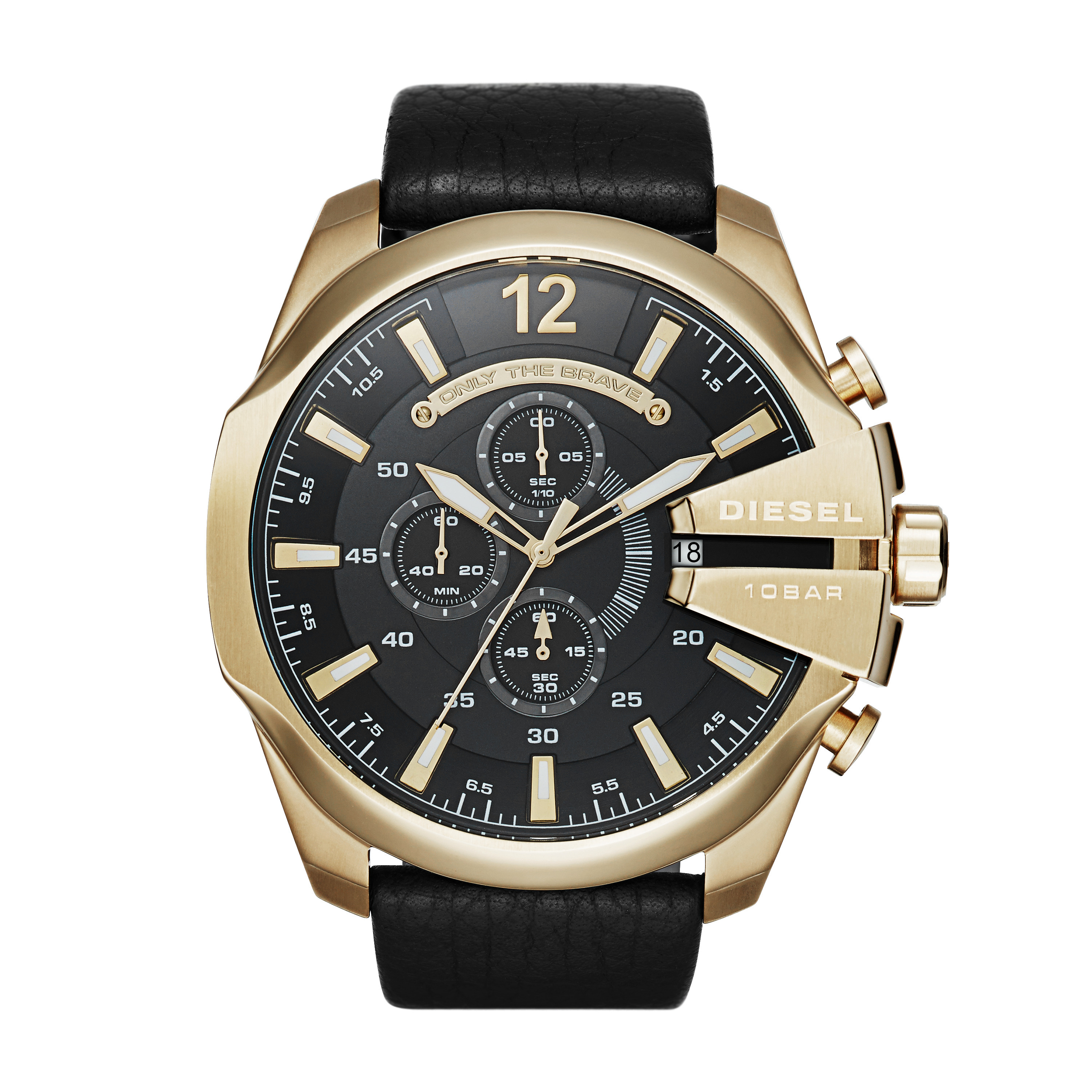 Diesel - Mega Chief (Black 3) Chronograph Watches
