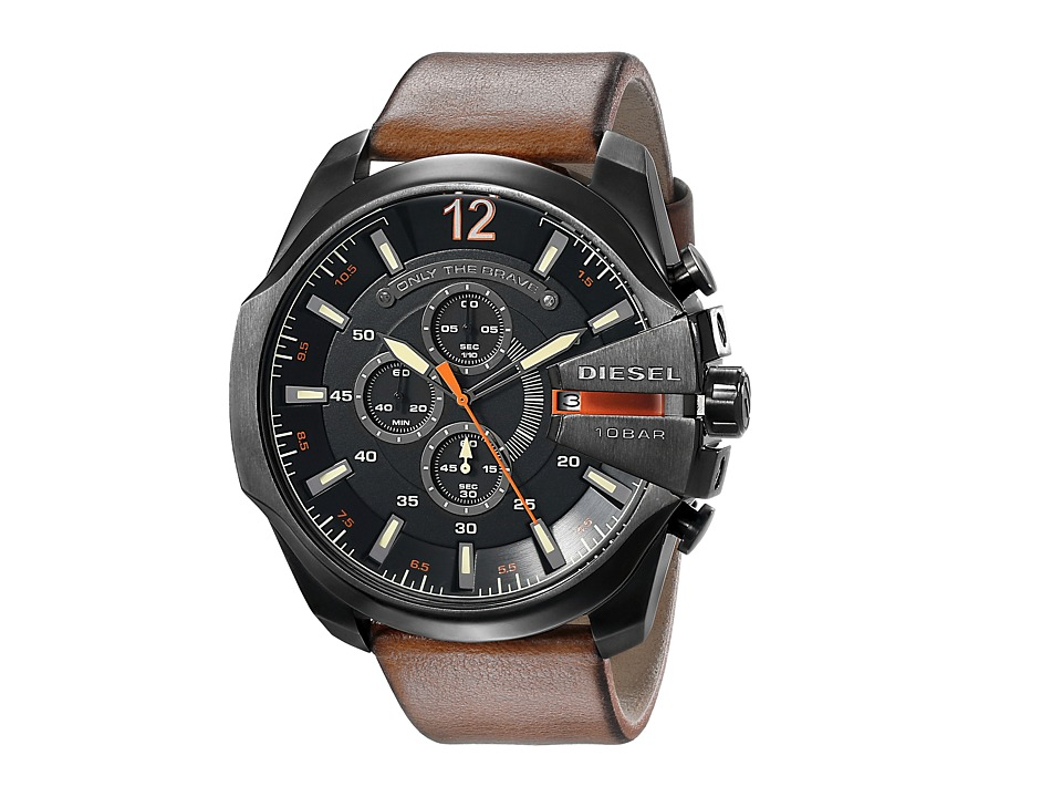 Diesel Mega Chief (Brown 1) Chronograph Watches