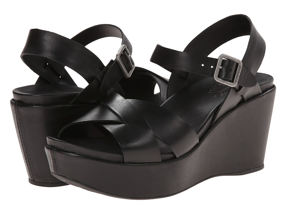 Kork Ease Ava 2.0 Black Womens Wedge Shoes