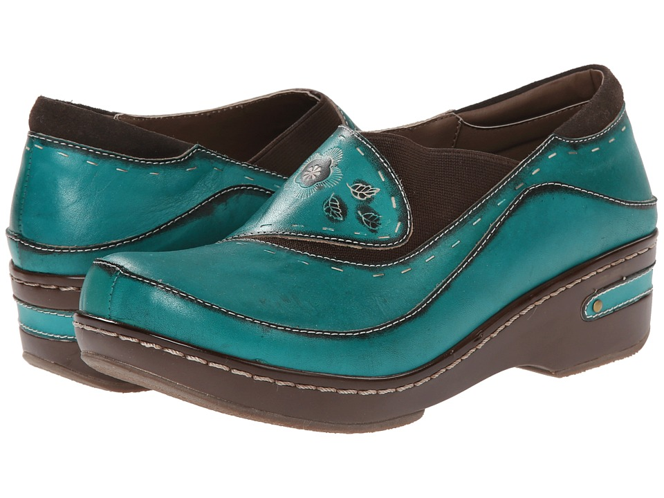 Spring Step Burbank Turquoise Womens Clog Shoes