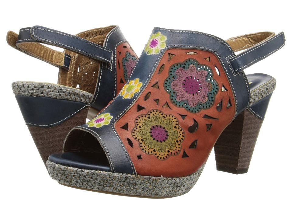 Spring Step Belen Navy Womens Sandals