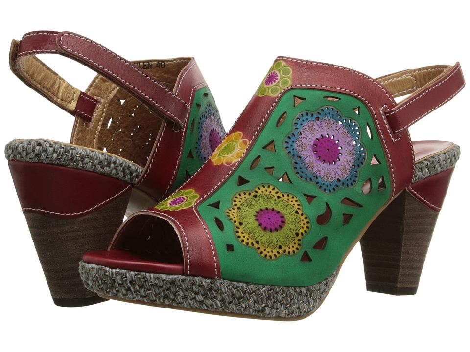 Spring Step Belen Red Womens Sandals