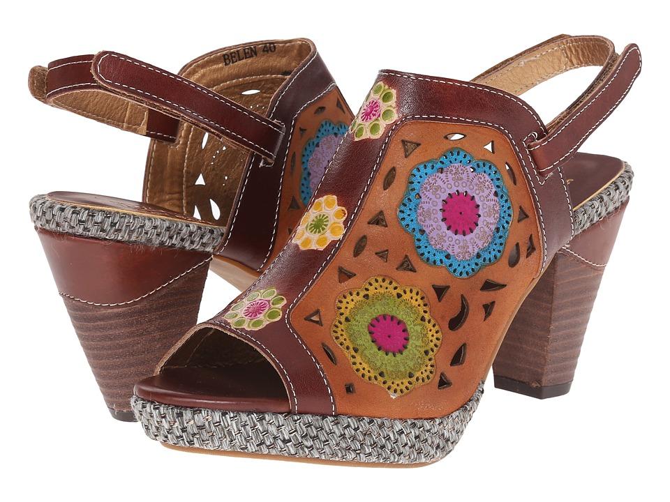 Spring Step Belen Brown Womens Sandals
