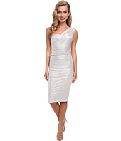 Stop Staring! - One Shoulder Silver Metalic Dress
