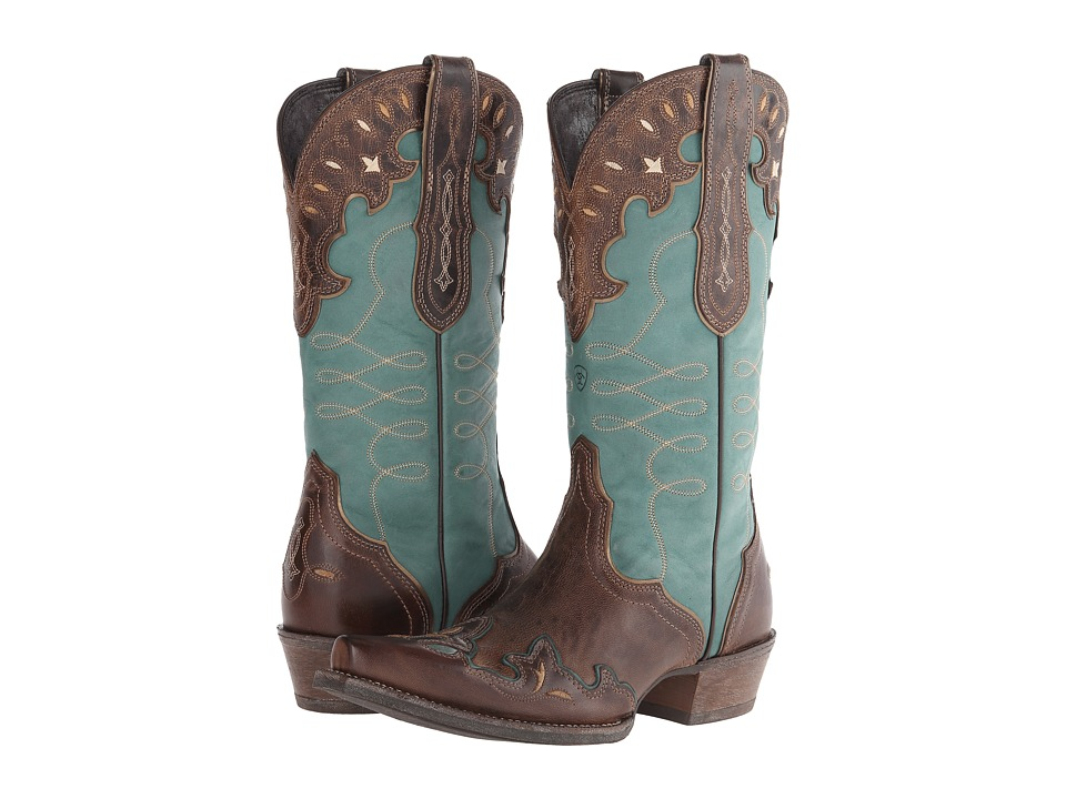 Ariat Zealous (Barnwood/Teal Green) Cowboy Boots