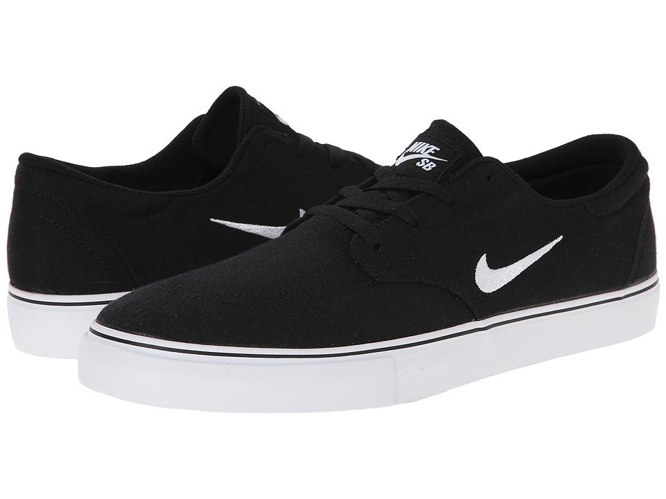 Nike SB Clutch Black/White Mens Skate Shoes