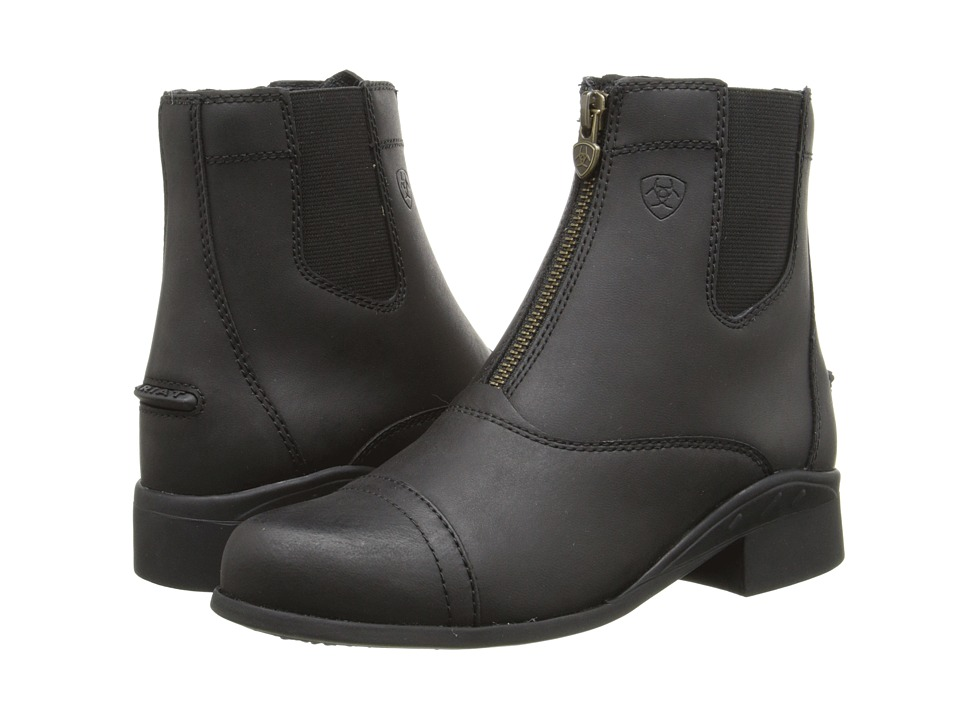 Image of Ariat English Kids - Scout Zip Paddock (Little Kid/Big Kid) (Black) Cowboy Boots