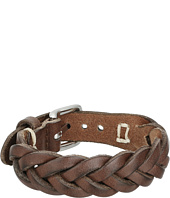 Fossil - Braided Leather Bracelet