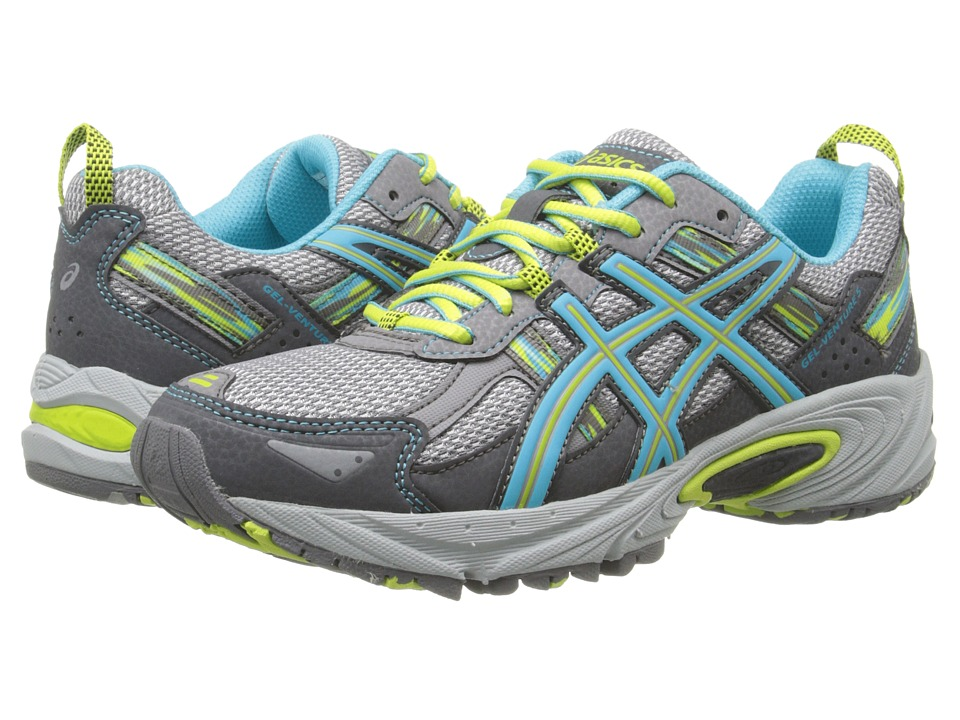 ASICS Gel-Venture 5 (Silver Grey/Turquoise/Lime Punch) Women