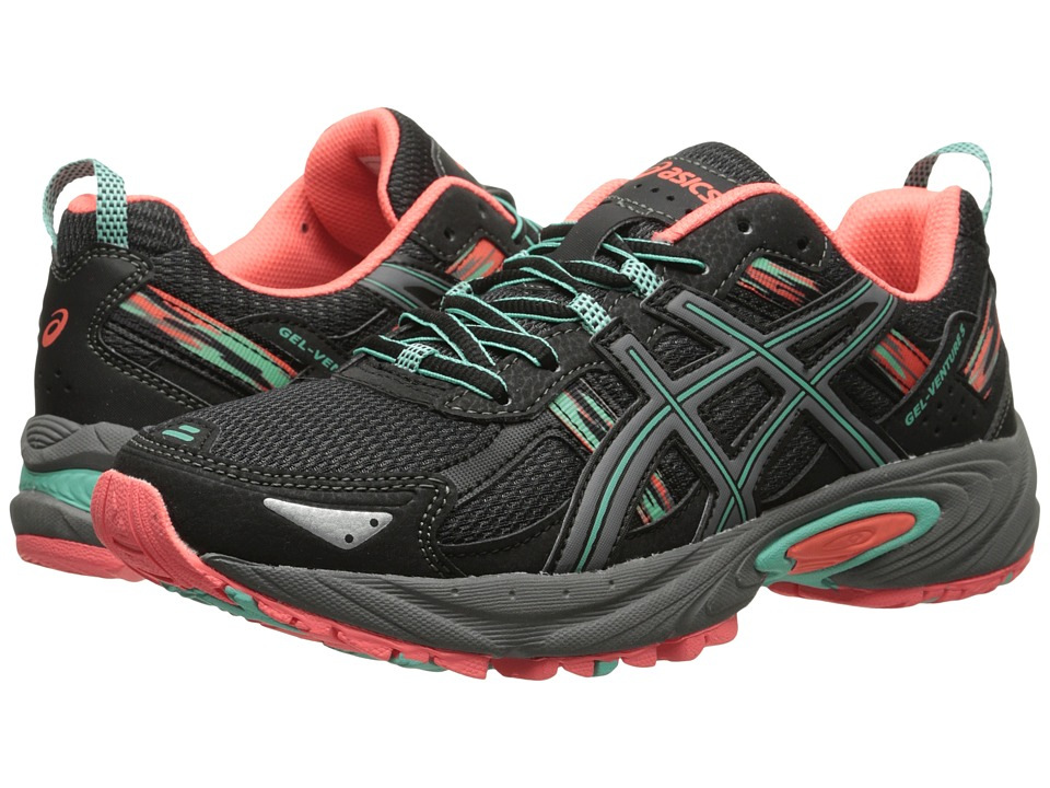 ASICS Gel-Venture 5 (Black/Aqua Mint/Flash Coral) Women