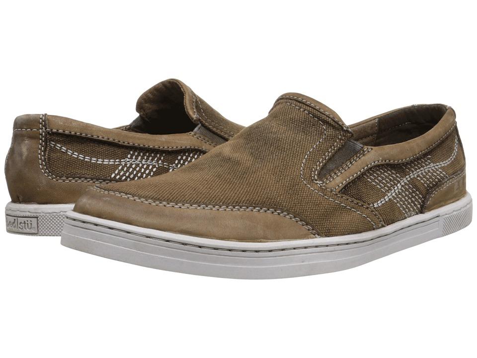 Bed Stu Bluegill Brown Rust Garment Dye Canvas/Leather Mens Shoes