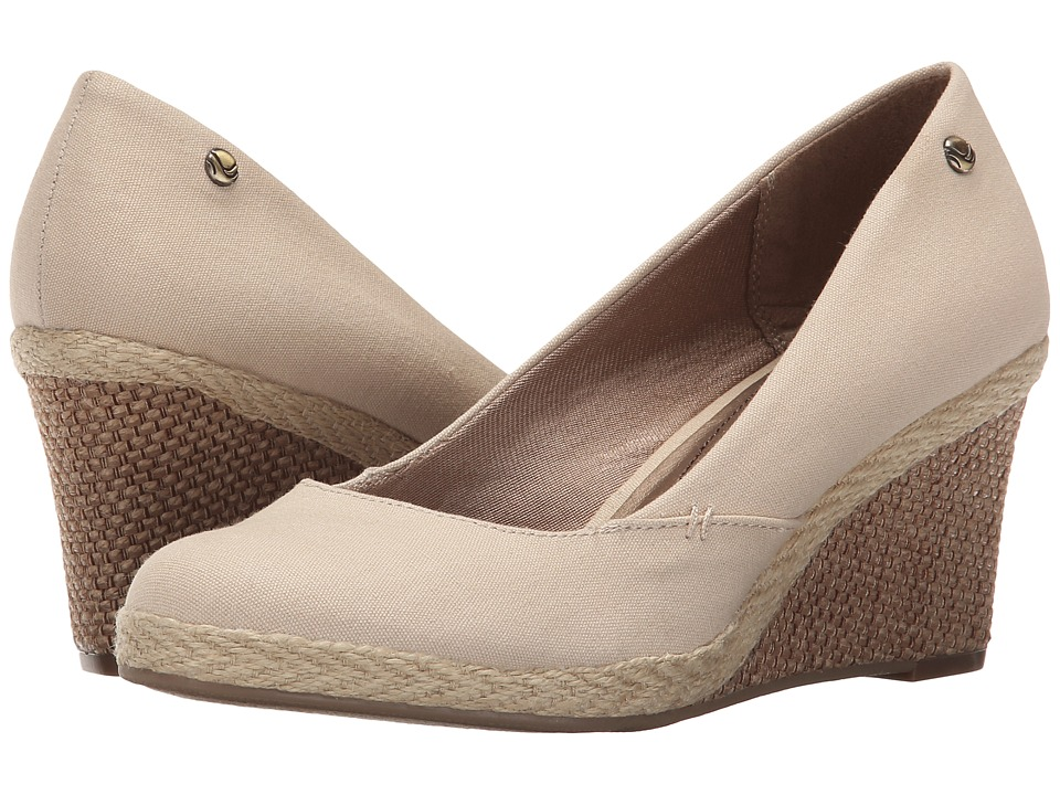LifeStride Clementine Natural Womens Wedge Shoes