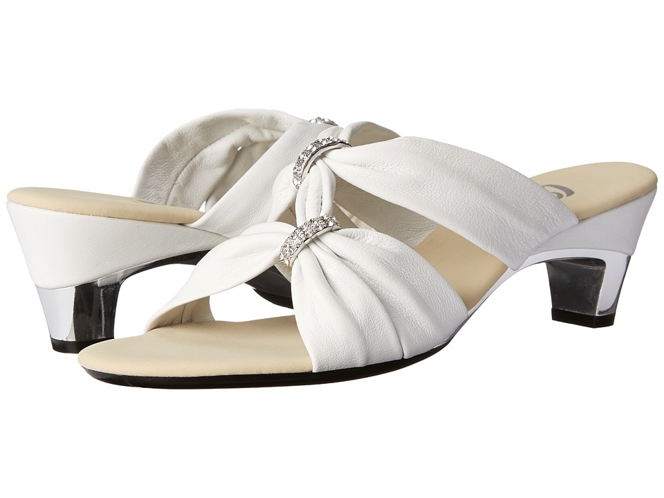 Onex Kylee (White/Silver) Women's Dress Sandals