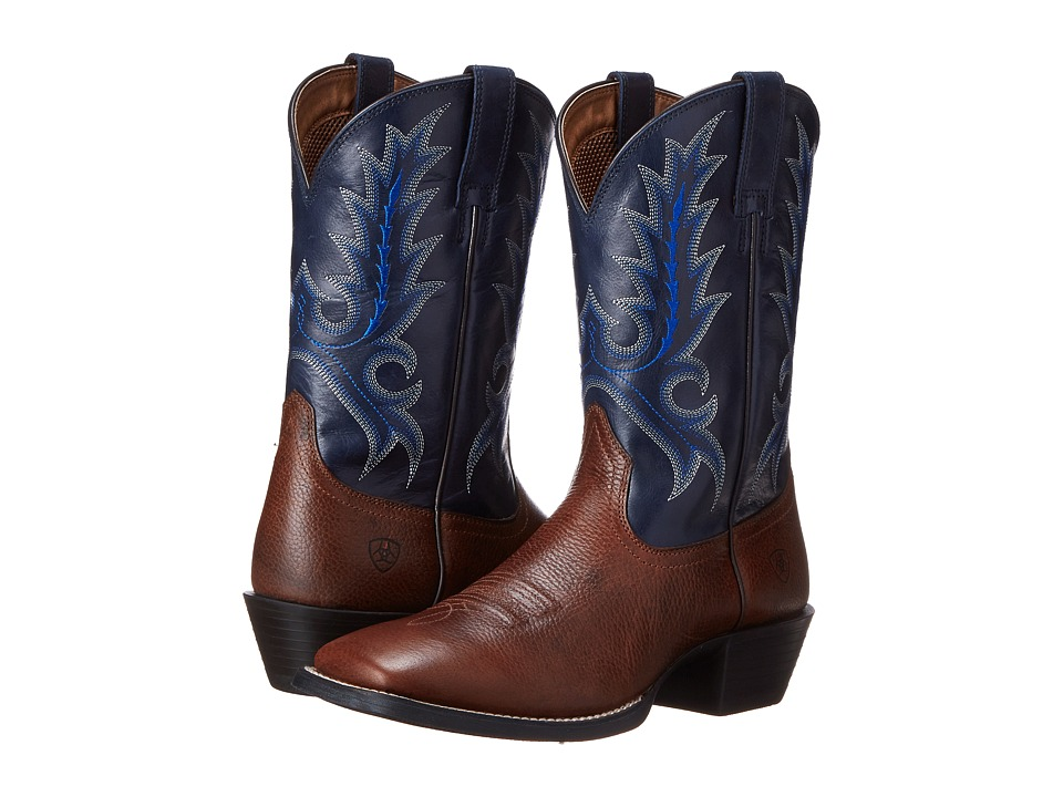 Ariat Sport Outfitter (Fiddle Brown/Arizona Sky) Cowboy B...