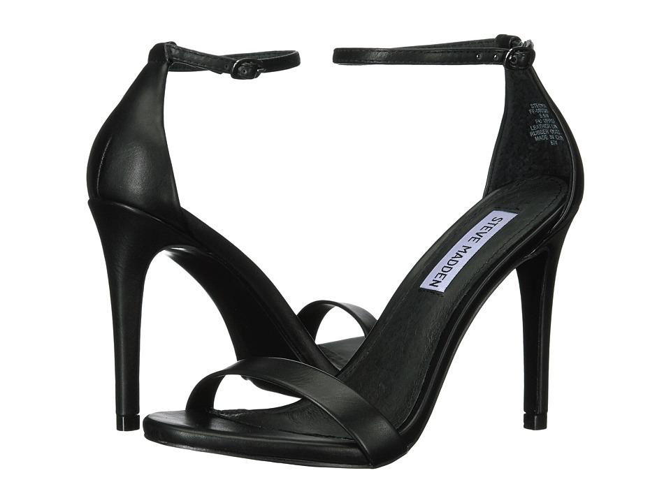 Steve Madden Stecy Stiletto Sandal (Black) High Heels