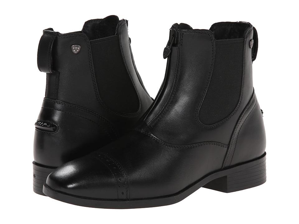 Ariat - Challenge Square Toe Zip Paddock (Black) Women
