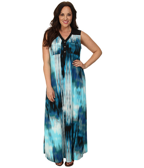 BB Dakota - Plus Size Hallows Dress (Deep Lake) - Apparel