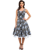 Unique Vintage - High Society Floral Swing Dress