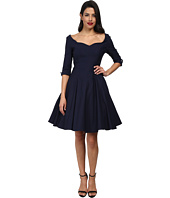 Unique Vintage - Three-Quarter Sleeve Grace Swing Dress