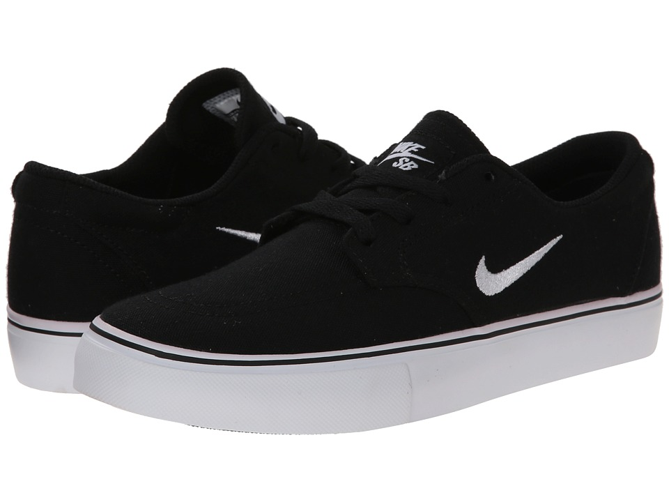 Nike SB Kids SB Clutch Big Kid Black/White Boys Shoes